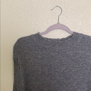 Forever 21 Grey Ribbed Top